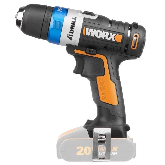 Worx WX178.9 Akku-Bohrschrauber AiDrill ohne Akku, Seitenansicht