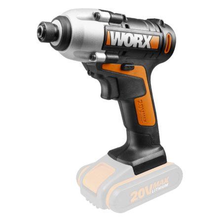 Worx WX290.9 20V ασύρματο κλειδί αντίκτυπου, χωρίς μπαταρία, άποψη 45 μοιρών