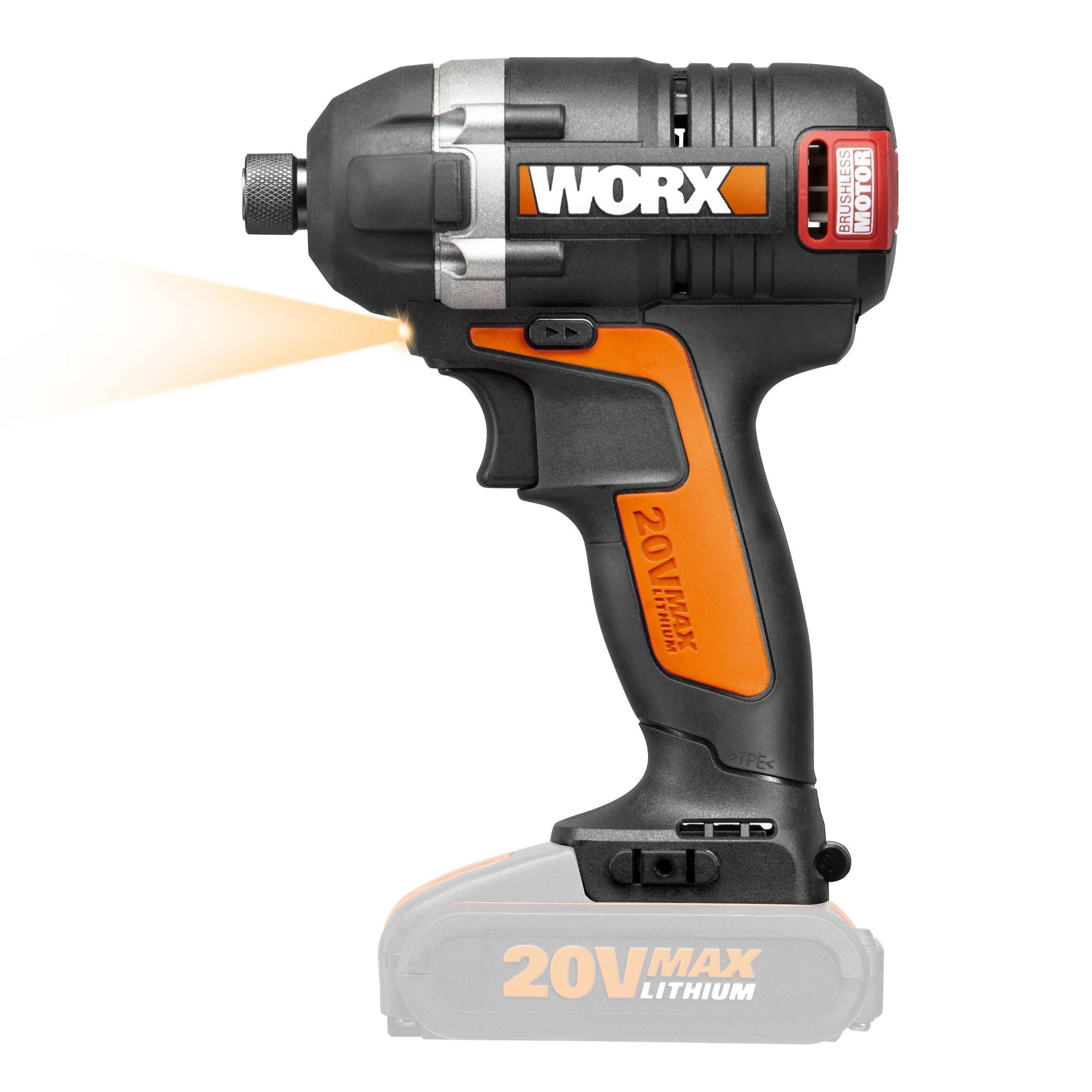 Worx WX292.9 20V Akku-Schlagschrauber, ohne Akku, LED Arbeitslicht