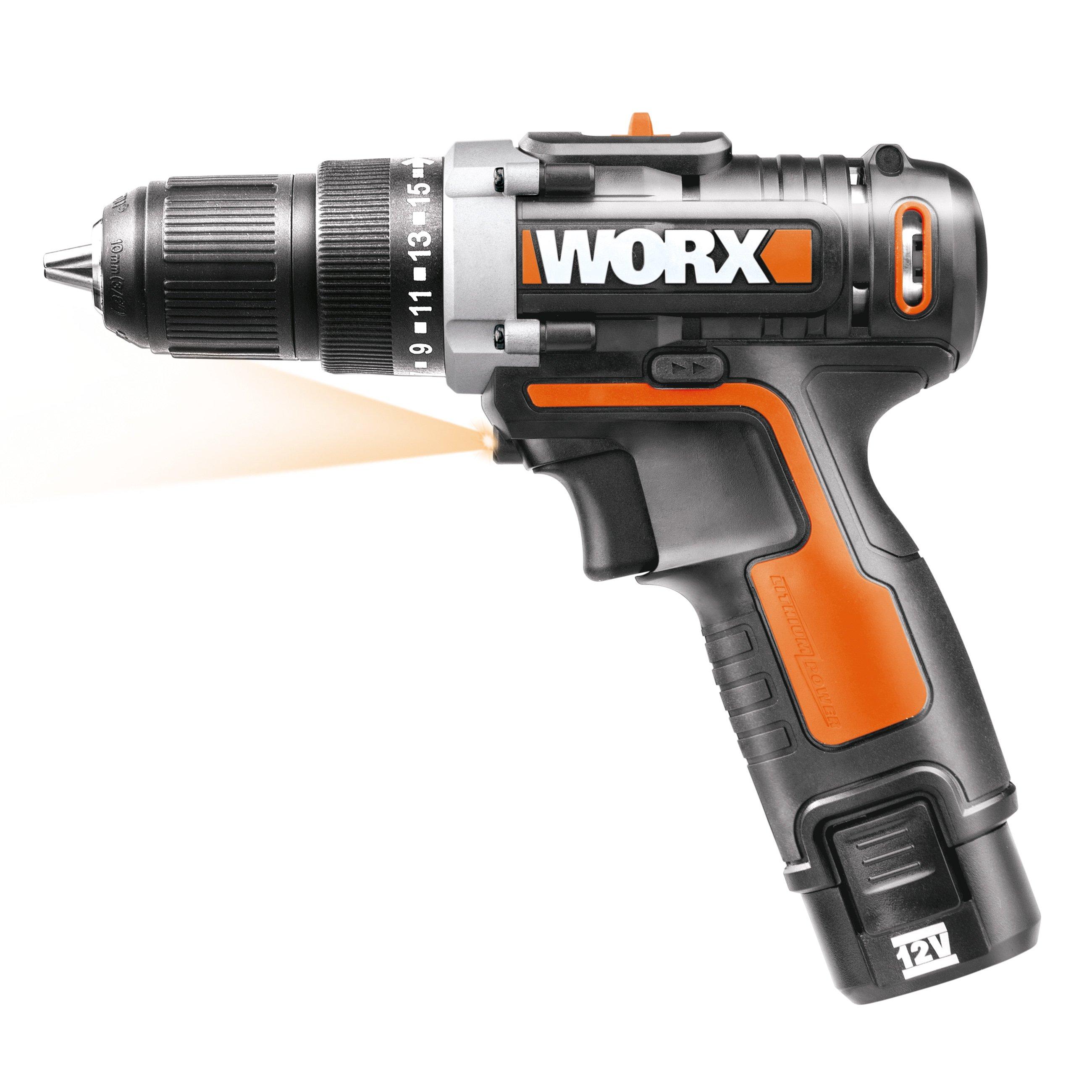 Worx WX128 Akku-Bohrschrauber, 12V 2-Gang-Getriebe
