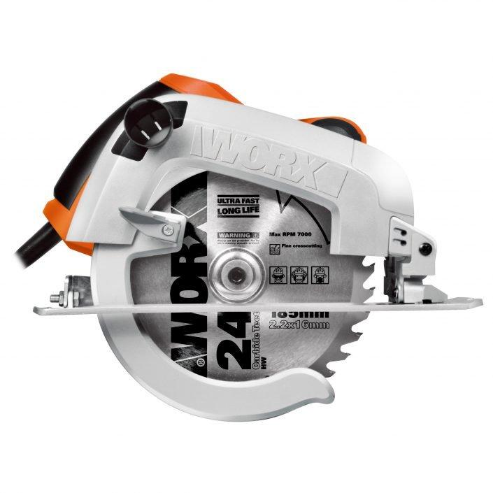 Worx WX445 1600W Handkreissäge, Seitenansicht